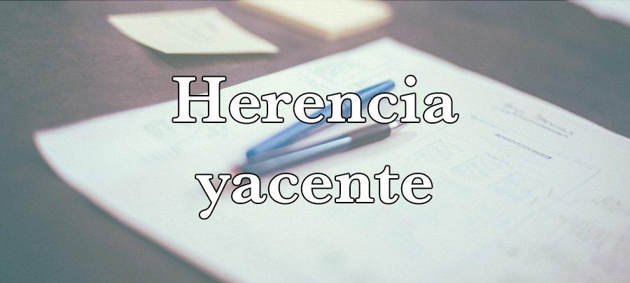 Herencia yacente